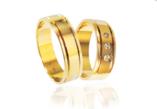 Vestuviniai Žiedai su trimis akmenukais 6 mm 12 gr KAV037