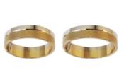 Balto/raudono aukso Vestuviniai Žiedai 6 mm 12 gr KAV038