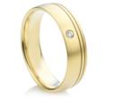 Vestuviniai žiedai su akute moteriškame 6 mm 12 gr KAV042