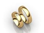 Vestuviniai Žiedai su kvadrato imitacijos akute 6 mm 12 gr KAV049