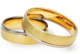 Dviejų spalvų aukso Vestuviniai Žiedai 6 mm 12 gr KAV051