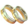 Dvispalviai Vestuviniai Žiedai su 5 akutėmis 6 mm 14 gr KAV024